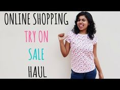 Online Shopping Try On Sale Haul - Myntra, Jabong, Flipkart, Ajio from online shopping websites during the Big Billion day sale is all in today's video. Online Shopping Websites, Try On, Street Fashion, Street Style, T Shirts For Women, Money, Big, Tees, Clothing