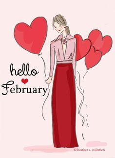 2-1-16  February hearts for Alexandra's door begins today February has my heart...