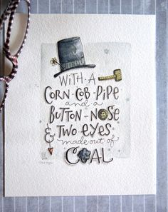 w/c paper, daniel smith watercolor, & mechanical pencil} Watercolor Typography, Watercolor Quote, Watercolor Cards, Hand Lettering Fonts, Typography Letters, Christmas Paper Crafts, Christmas Art, Christmas Projects, Daniel Smith Watercolor