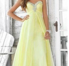 Banana yellow prom dress