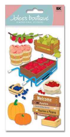 Fruit > Fruit Picking Stickers - Jolee's Boutique: Stickers Galore  $5.49