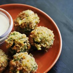Where food, family and friends gather, Simply Gourmet: Broccoli Cheddar Bites Broccoli Cheddar Bites, Fried Broccoli, Broccoli Recipes, Vegetable Recipes, Veggie Food, Veggie Bites, Bite Size Food, Cauliflower Dishes, Cooking Recipes