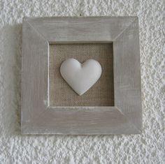 Cadre coeur - quadro con cuore in gesso