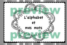 L'alphabet - My book of letters in French ( français )