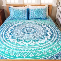 Indian Mandala Bedding Set Throw Hippie Bohemian Bedspreads Queen Size Tapestry #Unbranded #ArtDecoStyle