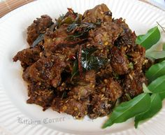 Mutton Fry (updated pic) This is a recipe for delicious Kerala style mutton fried with a blend of exotic spices and regional flavor. Indian Chicken Recipes, Lamb Recipes, Veg Recipes, Curry Recipes, Indian Food Recipes, Asian Recipes, Kerala Recipes, Andhra Recipes, Roast Recipes