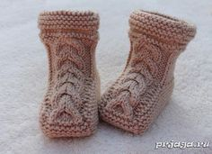Seamless booties - knitting boots
