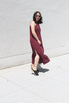 xirena regan dress in garnet