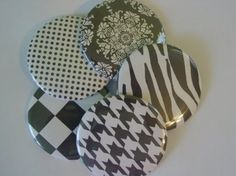 Black and White Wedding Favors 225 Inch Pocket by Cottonfieldfarm, $22.00