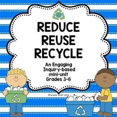 This engaging inquiry-based mini unit helps students develop a conceptual understanding and an awareness for the need to reduce, reused, and recycle. Aligned to NGSS standards, this unit is appropriate for grades 3-6. Enhance your Earth Day celebrations with this fun unit.