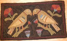 2 Bird Fraktur -- Wooly Woolen - Custom dyed wool, patterns, supplies, workshops and ...