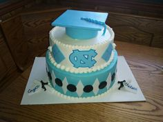 UNC graduation cake