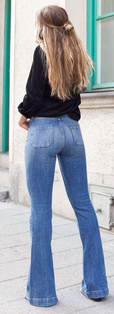 Women's Flare Jeans, Wide-Leg, Bell Bottom Jeans - Californian ...