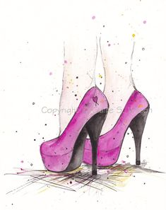 Pink Glam  Art Print 8x10 by claireswilson on Etsy, $25.00