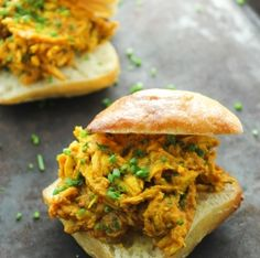 Curried BBQ Chicken Sliders   Edible Indy