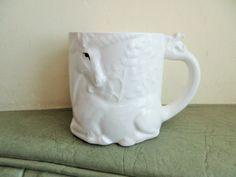 Vintage Mug, Unicorn Mug, White Unicorn Cup, Coffee Cup, Made in Japan, Otagiri Mug, Vintage Unicorn Mug, Ceramic Unicorn Mug, Cute Kawaii