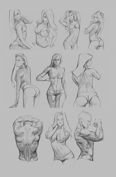Trilling Exercises To Get Better At Drawing Ideas. Astounding Exercises To Get Better At Drawing Ideas. Drawing Female Body, Human Anatomy Drawing, Gesture Drawing, Anatomy Art, Drawing Poses, Manga Drawing, Drawing Sketches, Cool Drawings, Figure Sketching