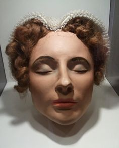 Painted Death Mask for Mary, Queen of Scotts