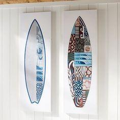 Guys Surfboard Canvas Art #potterybarnteen