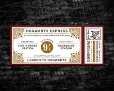How will you get to Hogwarts without a Hogwarts Express Ticket? Besides performing quite a bit of illegal underage magic and bewitching an old Ford Anglia. Youd be risking a serious breach of the International Statute of Wizarding Secrecy, or worse, get expelled before even stepping foot at school. Anyway, this listing includes: - (1) 8.5 x 11 DIGITAL PDF with three 7 x 3 GENERIC Hogwarts Express Tickets THIS ITEM IS NOT CUSTOMIZED. It will contain generic information. Please see product…