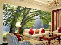 3D Wallpaper Big Green Trees 1 Wallpaper Mural Wall Mural Wall Murals Removable Wallpaper