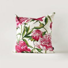 Hand Painted flower throw pillow for home decoration