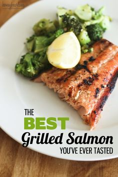 Grilled salmon with a maple/citrus glaze   that you make yourself. On the list for summer grilling!