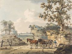 Paul Sandby, 1731-1809, British, A Sandpit, undated, Watercolor, pen and brown ink and graphite on thick card, Yale Center for British Art, Paul Mellon Collection
