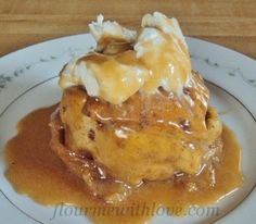 Apple Dumplings made with   Cinnamon Roll Dough and a rich Caramel Sauce! Flour Me With Love #cinnamon rolls # apple #dumplings