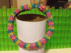 6 pin Hexafish Rainbow Loom Band Bracelet. by LovinlifeLizzy
