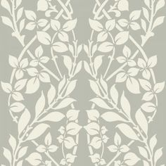 Buy the York Wallcoverings Gray Direct. Shop for the York Wallcoverings Gray x Sample of Botanica by Candice Olson - Unpasted Non-Woven Wallpaper and save. Embossed Wallpaper, Brick Wallpaper, Wallpaper Roll, Flower Wallpaper, Damask Wallpaper, Wallpaper Ideas, Herbal Leaves, Candice Olson, Design Repeats