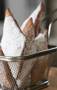 Brioche doughnuts or brioche beignets are fried, light and airy and definitely worth the work! You will be very impressed with the results. The dough is Savoury Dishes, Food Dishes, Dry Yeast, Beignets, Fritters, Doughnuts, Sunday, Vegetarian, Treats