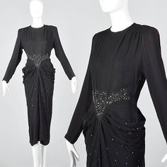 A sultry 1940s harem dress worthy of Lauren Bacall!    1940s, 40s, 40s style, 40s fashion, 40s vintage, 1940s vintage, vintage 40s, vintage 1940s, 1940s dress, 40s dress, 1940s dresses, 40s dresses, vintage dress, vintage dresses, Art deco, wwii, ww2, True vintage, true vintage clothing, vintage clothing, vintage clothes, vintage fashion, vintage style, Lauren Bacall, Femme Fatale, Bombshell, Pin Up