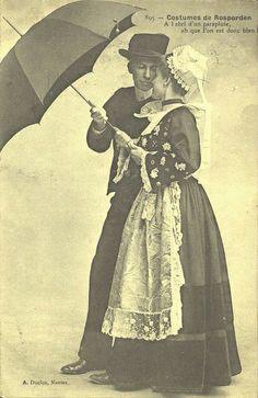 Recueil de cartes postales sur la Bretagne - Costumes de Rosporden | Flickr : partage de photos !