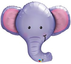 """Ellie the ELEPHANT BALLOON 39"""" Mylar Zoo Circus Animals Birthday Party Baby Shower Supplies Decorations Centerpiece Photo Prop @ Kidz Party Shoppe"""