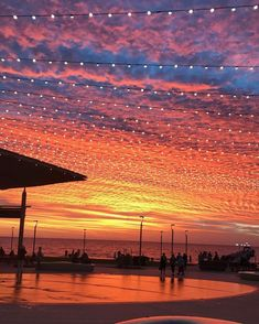 Spectacular sunset, Henley  Beach, South Australia. February 2017.