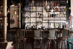 French cafe style bar stools