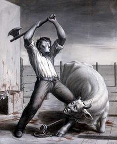 maybe meat-eaters will come back as animals...karma. can not wait for that to really happened