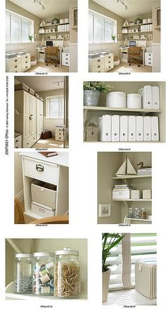 Nice examples of #storage #tips for your craft or #sewing room.