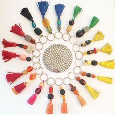 Colour wheel Mini line of Tassel key rings