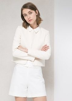Cotton linen-blend coat - Coats for Women | MANGO