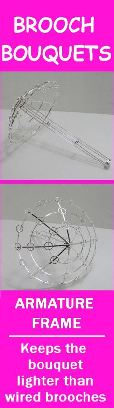 Crystal Bridal Bouquet Holder - Step by Step Tutorial  Lightweight Armature frame for brooch bouquets, seashell bouquets, button bouquets and more.