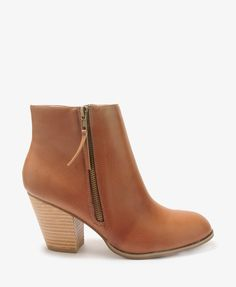 Why couldn't this come in black and grey too???? Zippered Booties   FOREVER21 - 2000048591