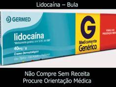 Lidocaína - Bula - Indicação - Posologia