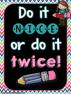 it nice poster {FREEBIE} This freebie comes with four versions for you to choose from including a black and white version AND a smaller version to put in a notebook.Version Version may refer to: In computing: In music: Other uses: 2nd Grade Classroom, Classroom Behavior, Classroom Setting, Classroom Posters, Classroom Setup, Classroom Design, Classroom Displays, Kindergarten Classroom, Future Classroom