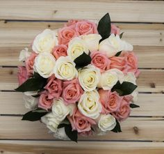 A perfect balance of our beautiful pink and white roses. Our stunning roses are…
