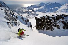 Telemark skiing Lofoten