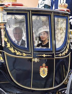 Queen Silvia and King Carl Gustaf greeted officials and onlookers as they arrived at the Riksdag Princess Victoria Of Sweden, Crown Princess Victoria, Rose Queen, Swedish Royalty, Prince Carl Philip, Queen Silvia, Royal Look, Good Spirits, Horse Drawn