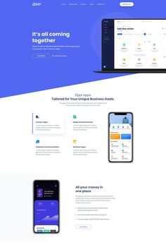 Oppi is a state-of-the-art, advanced WordPress theme for building any kind of app landing page or app showcase website. It can be used to build websites of any kind of app related startup Landing Page Inspiration, Website Design Inspiration, App Landing Page, Landing Page Design, Wordpress Website Design, Wordpress Theme Design, Finance, Website Themes, Website Designs