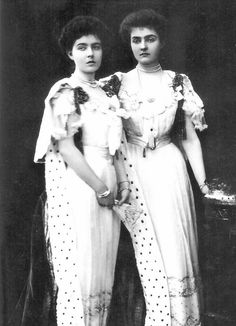 europeanmonarchies:  Princess Margaret and Princess Patricia of Connaught in their coronation robes, on the coronation day of their uncle Edward VII - 9th August 1902.